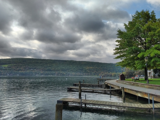 Fishermen on Keuka lake