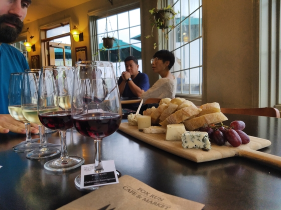 Wine and cheese at Fox Run